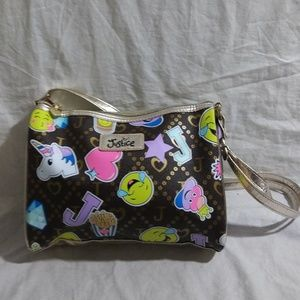 Justice Accessories - Justice Girl's Happy Unicorn Emoji Handbag Purse